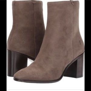 Frye suede taupe boots 8.5